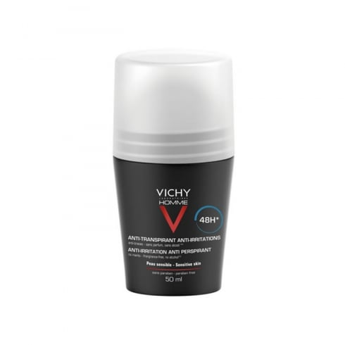 Vichy Homme Roll On Deodorant For Sensitive Skin 50ml