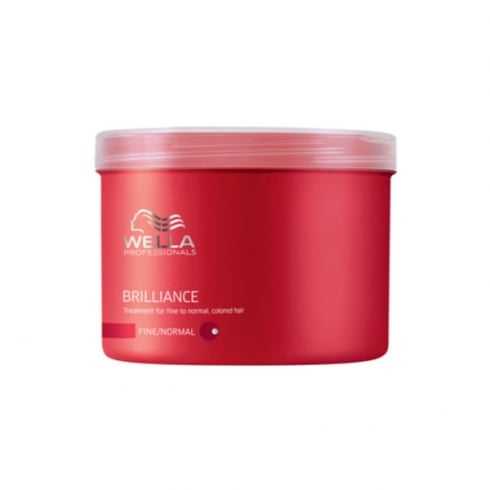 Wella Brilliance Colour Treated Mask Fine Normal Hair 500ml