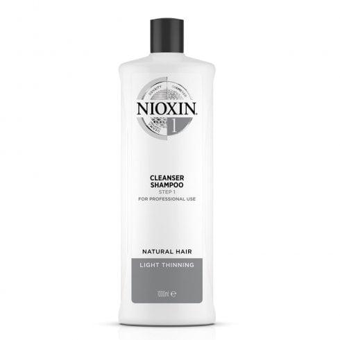 Wella Nioxin Shampoo Cleanser System 1 1000ml