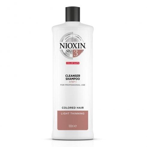 Wella Nioxin Shampoo Cleanser System 3 1000ml