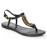 Unze Women Sandals Casual Flat Sandals - Black