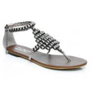 Unze Women Sandals Casual Flat Sandals - Pewter