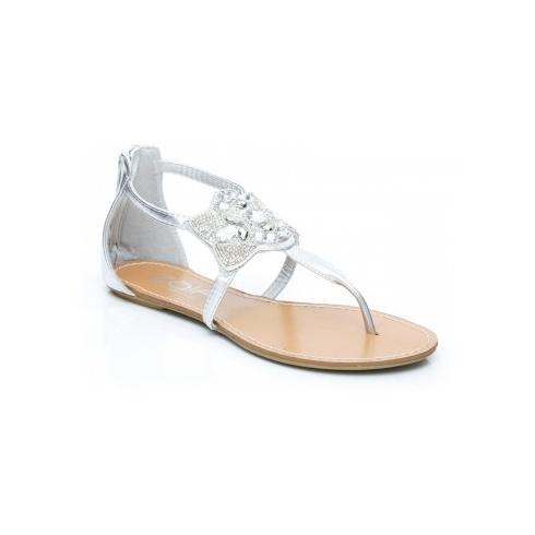 9908763687d8 Unze Women Sandals Casual Flat Sandals - Silver - Unze from Direct  Beautique UK