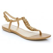 Unze Women Sandals Casual Flat Sandals - Tan