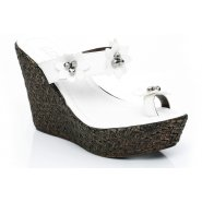 Unze Women Sandals Casual Wedges - White