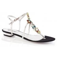 Unze Women Sandals Evening Flat Sandals - Black