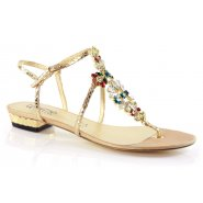 Unze Women Sandals Evening Flat Sandals - Gold