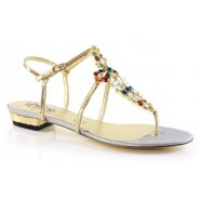 Unze Women Sandals Evening Flat Sandals - Silver