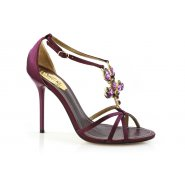 Unze Women Sandals Evening Heeled Sandals - Purple