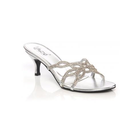 ebb56f6b268d Unze Women Sandals Evening Heeled Sandals - Silver