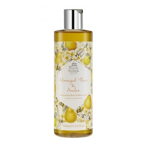 Woods of Windsor Honeyed Pear & Amber 350ml Bath & Shower Gel