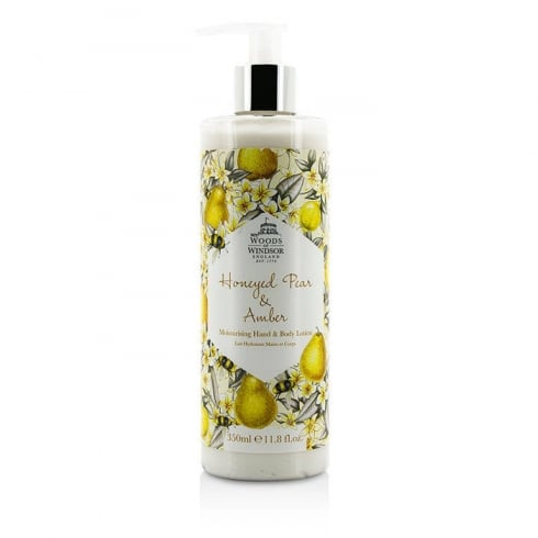 Woods of Windsor Honeyed Pear & Amber Hand & Body Lotion 350ml