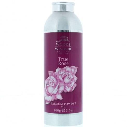 Woods of Windsor True Rose Talcum Powder 100g