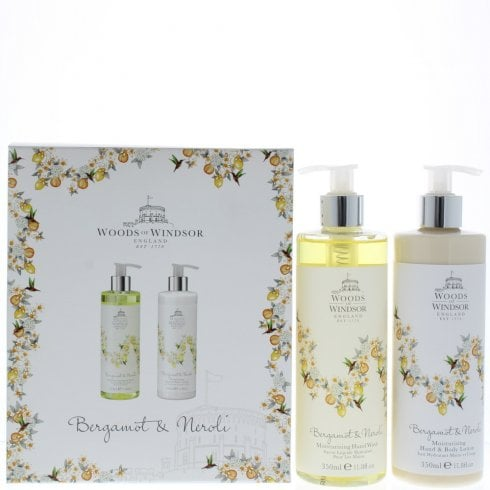 Woods of Windsor Wow True Rose Sg 350ml & Hand Body Lotion 350ml