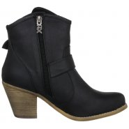Xti Ladies Ankle Boot Black - 25412