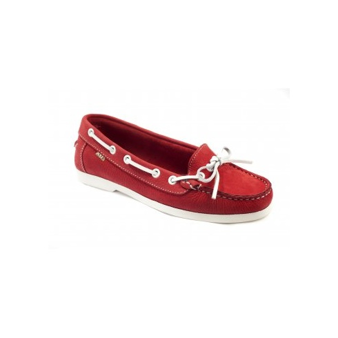 Xti Ladies Boat Shoes - Red