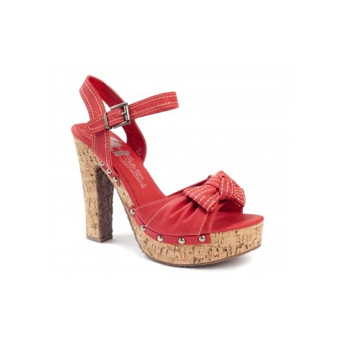 Xti Ladies Cork Sandals - Red - 25149