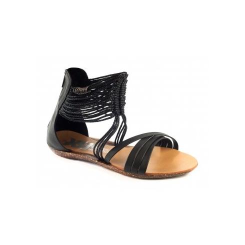 Xti Ladies Flat Sandals - Black - 25212