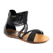 Xti Ladies Flat Sandals - Black - 25212