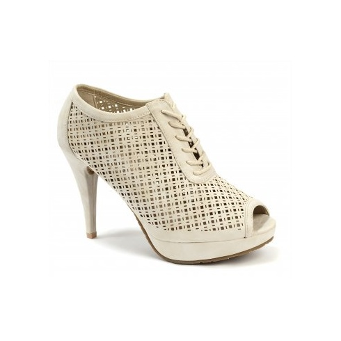 Xti Ladies Lace Ankle Shoes - Ice - 25081
