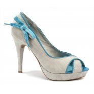 Xti Ladies Peep Toe Heel - Baby Blue - 32667