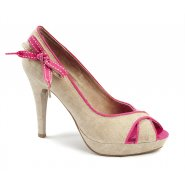 Xti Ladies Peep Toe Heel - Pink - 32667