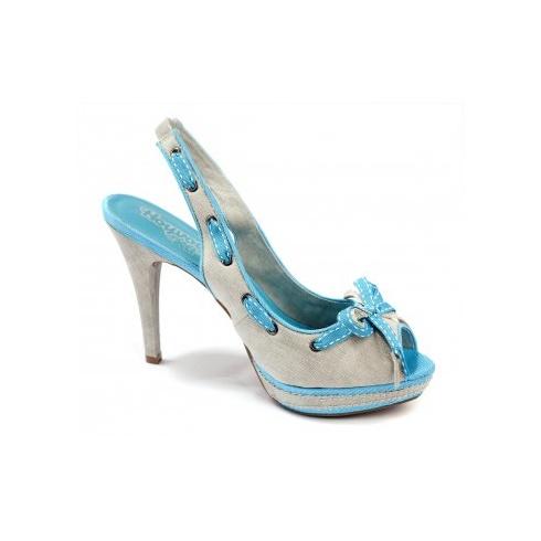 Xti Ladies Slingbak Peep Toe - Blue - 32665