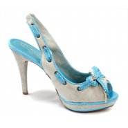 Xti Ladies Slingbak Peep Toe - Blue - 32665