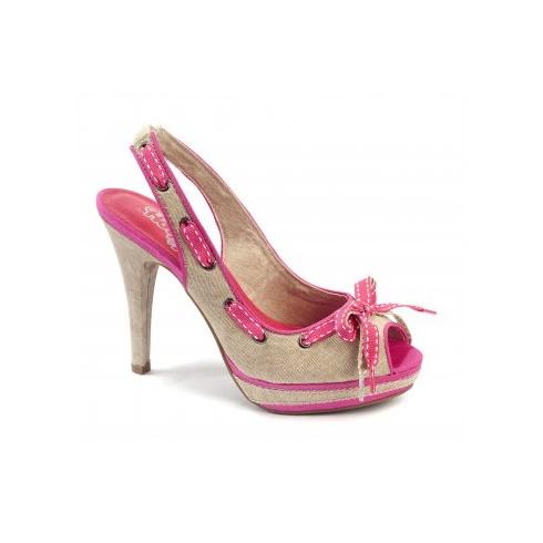 Xti Ladies Slingbak Peep Toe - Pink - 32665