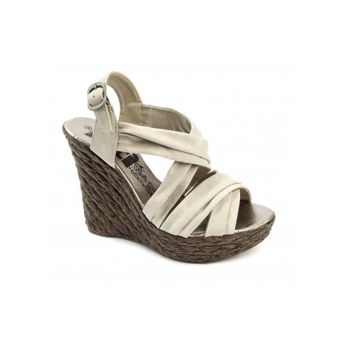 Xti Ladies Wedge Sandals - Ice - 25221