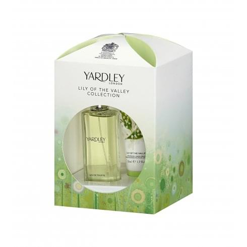 Yardley Lily of the Valley Gift Set 50ml EDT + 50ml Nourishing Hand Cream