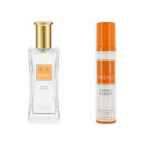 Yardley Orange Blossom 50ml EDT Spray with free Orange Blossom 75ml Body Spray