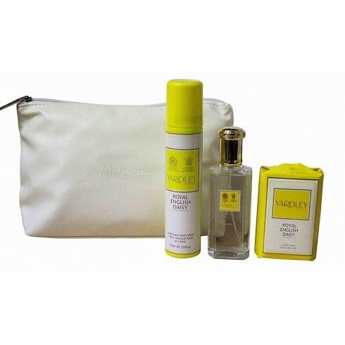 Yardley Royal Daisy EDT 50ml & Bs 75ml & Lux Soap 100G & Bag