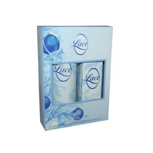 Yardley Lace Gift Set 25ml EDT Spray + 150g Talc