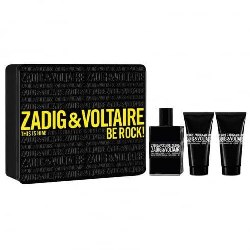 Zadig & Voltaire This is Him! Be Rock! 50ml EDT Spray / 2 x 50ml Shower Gel